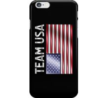Team USA - American Flag & Text - Metallic iPhone Case/Skin