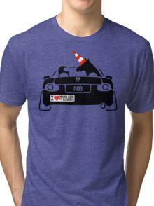 Miata Club of Hawaii NB Autocross Unicorn WTF!? Tri-blend T-Shirt