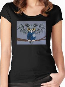 Midnight Owl Women's Fitted Scoop T-Shirt
