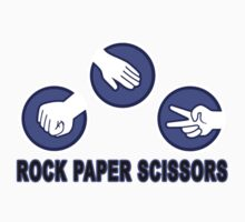 Rock Paper Scissors T Shirt by redbuble2014