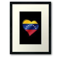 Venezuelan Flag - Venezuela - Heart Framed Print