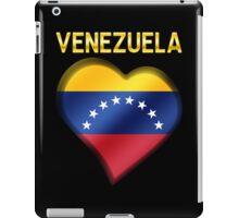Venezuela - Venezuelan Flag Heart & Text - Metallic iPad Case/Skin