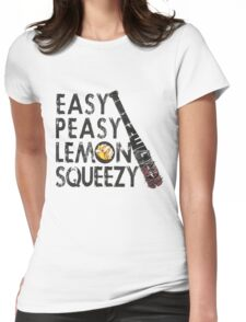 THE WALKING DEAD - NEGAN - EASY, PEASY, LEMON SQUEEZY Womens Fitted T-Shirt