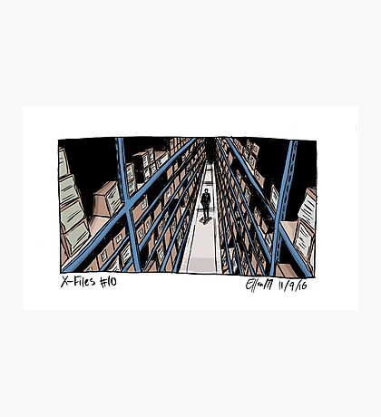 X-Files - Shelves Photographic Print