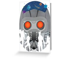 Look Into StarLords Helmet Greeting Card