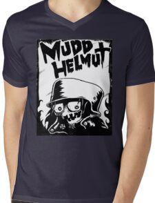 Classic Mudd Helmut Logo Mens V-Neck T-Shirt