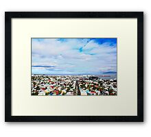 Rooftop Rainbow Framed Print