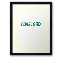 TIMELORD 3D TEXT Framed Print