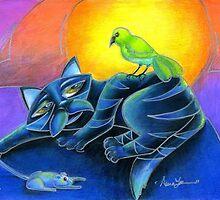 Night Seasons (Cat goes hunting) by Alma Lee by Alma Lee