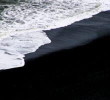 Black Beach Sticker