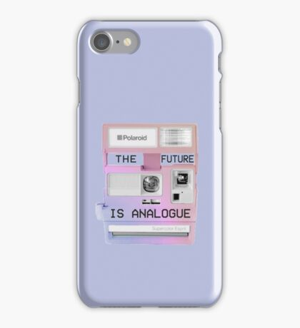 The future is analogue iPhone Case/Skin