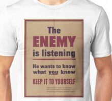 Vintage poster - The Enemy is Listening Unisex T-Shirt