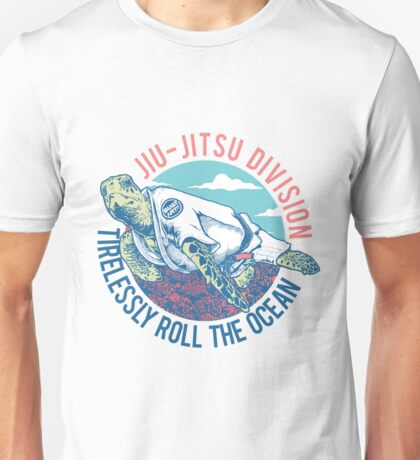 Turtle Jiu-jitsu Tirelessly Roll The Ocean Unisex T-Shirt