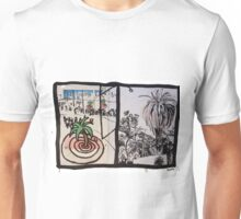 The Palm Tree, and The Palm Tree (Contrasting Styles) Unisex T-Shirt