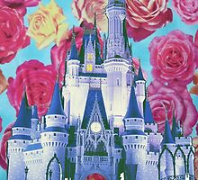 cinderella castle floral. by dkelly1126