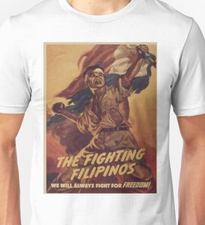 Vintage poster - The Fighting Filipinos Unisex T-Shirt
