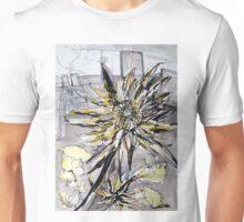 Work in Progress, (A Flower from the Garden). Unisex T-Shirt