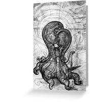 The Technological Singularity, (Drawing of a Sculpture) Greeting Card