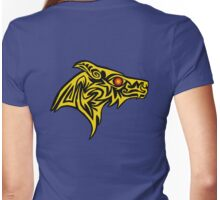 Gold wolf of the ember eye Womens Fitted T-Shirt