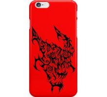 Crazy Black Devil tribal iPhone Case/Skin
