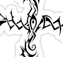 The Black Thorn Cross Sticker