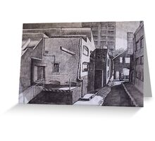 Studying with Rick Amor (Urban Landscape) Greeting Card