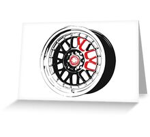 Black and Red Rim Greeting Card