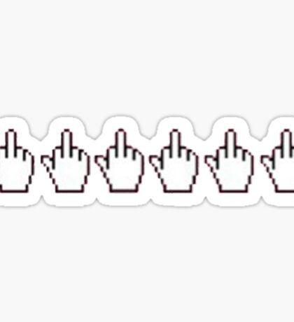 middle finger cursor Sticker