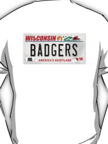 License Plate - BADGERS T-Shirt