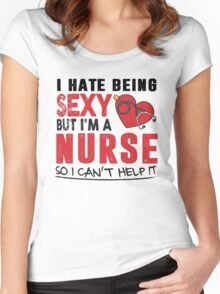 sexy nurse Women's Fitted Scoop T-Shirt