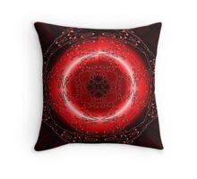 Galaxy Red Rose Moon Eye Throw Pillow
