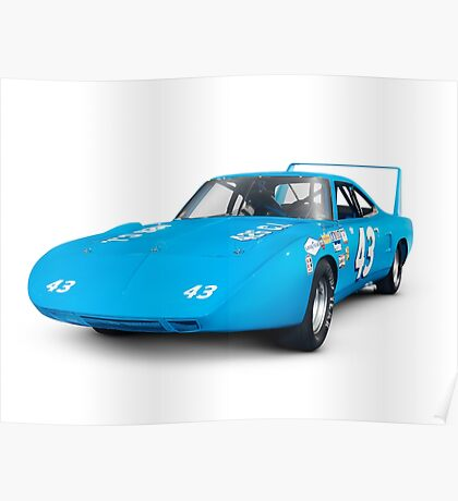 1970 Plymouth Superbird retro race car art photo print Poster