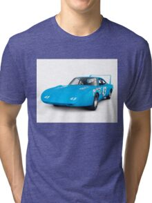 1970 Plymouth Superbird retro race car art photo print Tri-blend T-Shirt