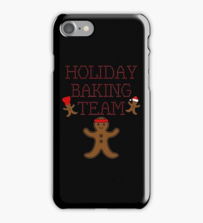 Funny Bakers Love Christmas Gift Holiday Baking Team T-Shirt iPhone Case/Skin