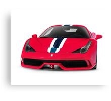 Red Ferrari 458 Speciale sports car art photo print Canvas Print