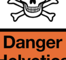 Danger Helvetica Sticker