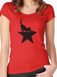 Hamilcat 2.0 for Hamilton Musical Fans Women's Fitted Scoop T-Shirt