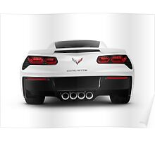 2014 Chevrolet Corvette Stingray sports car rear view art photo print Poster