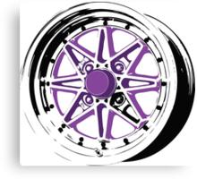 Purple and Black Rim Canvas Print