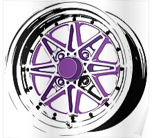 Purple and Black Rim Poster