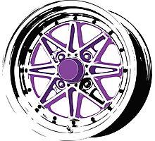 Purple and Black Rim Photographic Print