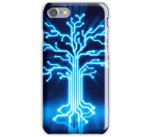 Glowing digital tree circuits concept art photo print iPhone Case/Skin