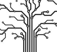 Digital tree circuits concept art photo print Sticker