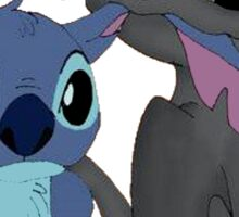 Toothless and Stitch Sticker