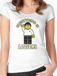 Everything is logical Women's Fitted Scoop T-Shirt