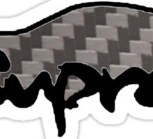 Toyota Supra Carbon Fibre Sticker