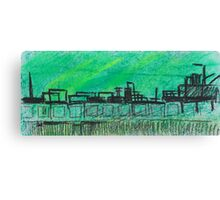 Green city landscape Canvas Print