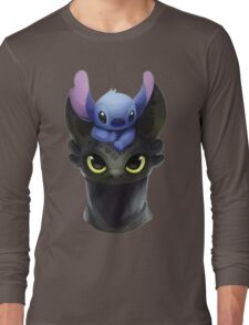 Stitch on Toothless Long Sleeve T-Shirt