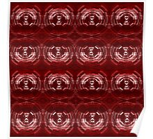 Migraine Red Optical Illusion Abstract Art Poster
