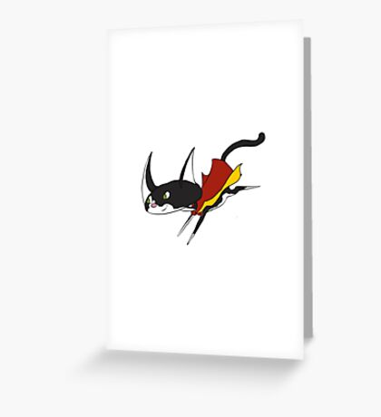 Super Cat to save the Day! Greeting Card